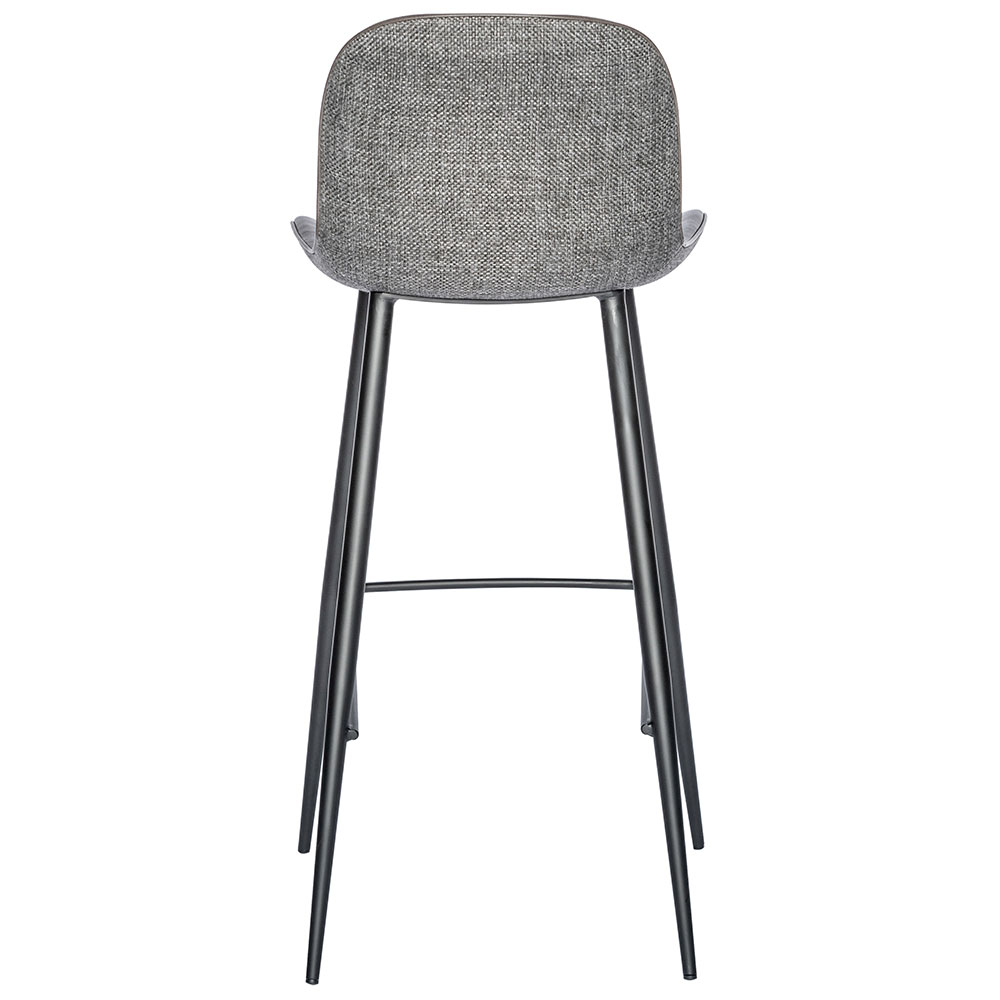 Mirabelle Modern Gray Bar Stool By Euro Style Eurway
