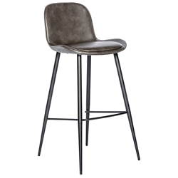 Mirabelle Modern Bar Stool in Dark Gray