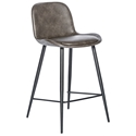 Mirabelle Modern Counter Stool in Dark Gray