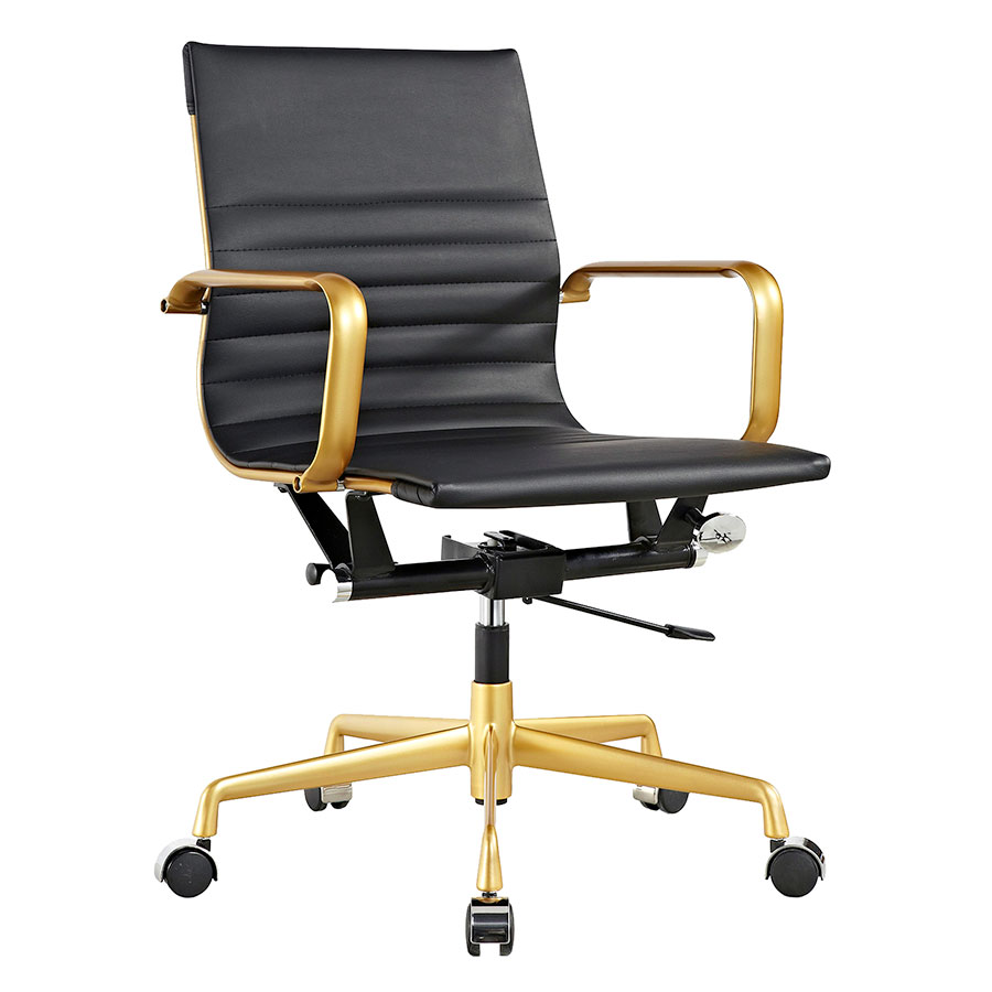 Mirana Black Modern Office Chair