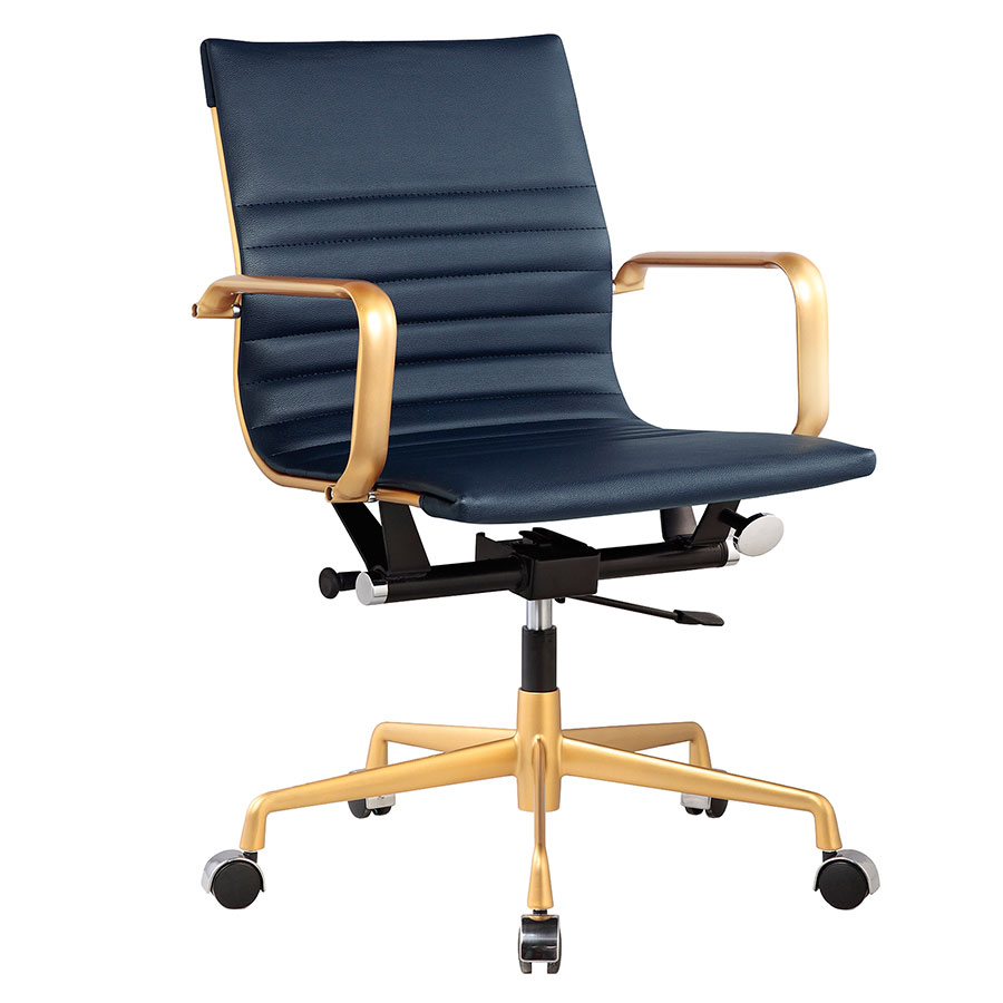 Call To Order Mirana Blue Modern Office Chair