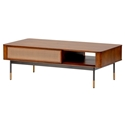 Miriam Brown Wood + Wicker Coffee Table by Euro Style