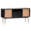 Miriam Contemporary Black Sideboard by Euro Style
