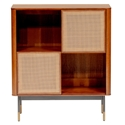 Miriam Modern Brown + Wicker Storage Cabinet by Euro Style
