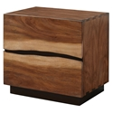 Missoula Live Edge Contemporary Nightstand