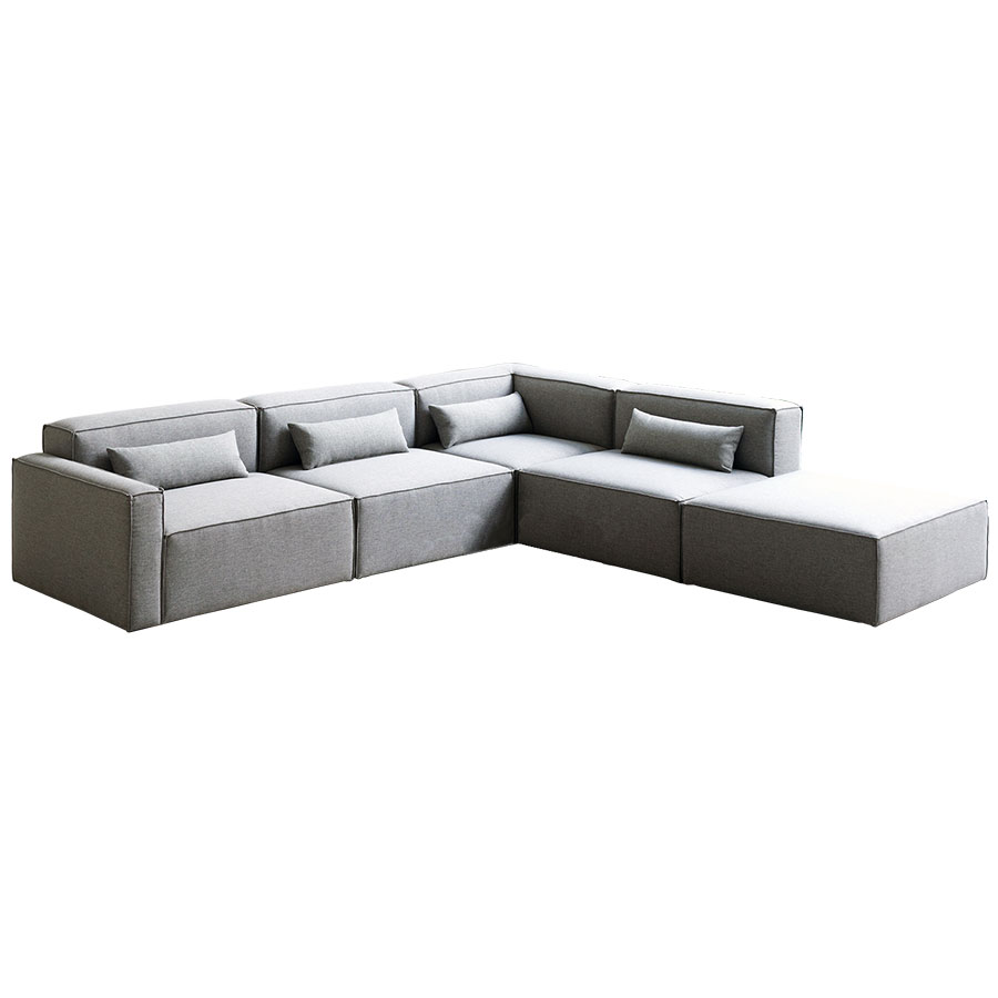 Call To Order · Mix Modular 5 Piece Sectional In Parliament Stone By Gus*  Modern