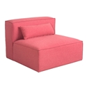 Mix Modular Armless Contemporary Lounge Chair in Berkeley Coral by Gus* Modern
