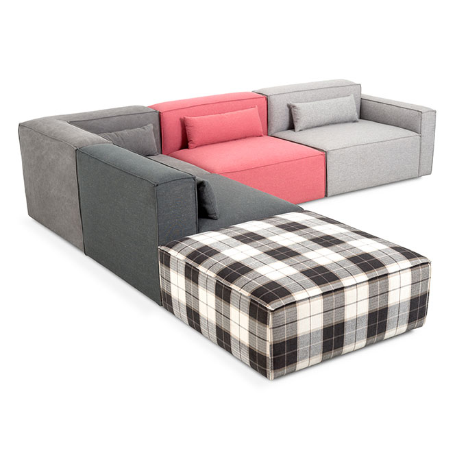 Mix Modular 5 Piece Sectional in Mixed Upholstery by Gus* Modern