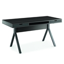 Modica Contemporary Desk in Charcoal Stained Ash by BDI