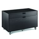 Modica Charcoal Stained Ash Modern Mobile File Cabinet by BDI