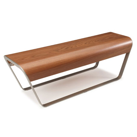 Momo Modern Walnut Bench by Offi & Company