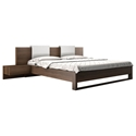 Modloft Monroe Modern Platform Bed in Walnut