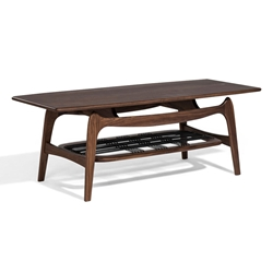 Montclair Walnut Mid Century Modern Coffee Table