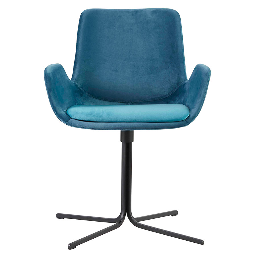 Modern Chairs Moppsy Blue Swivel Arm Chair Eurway