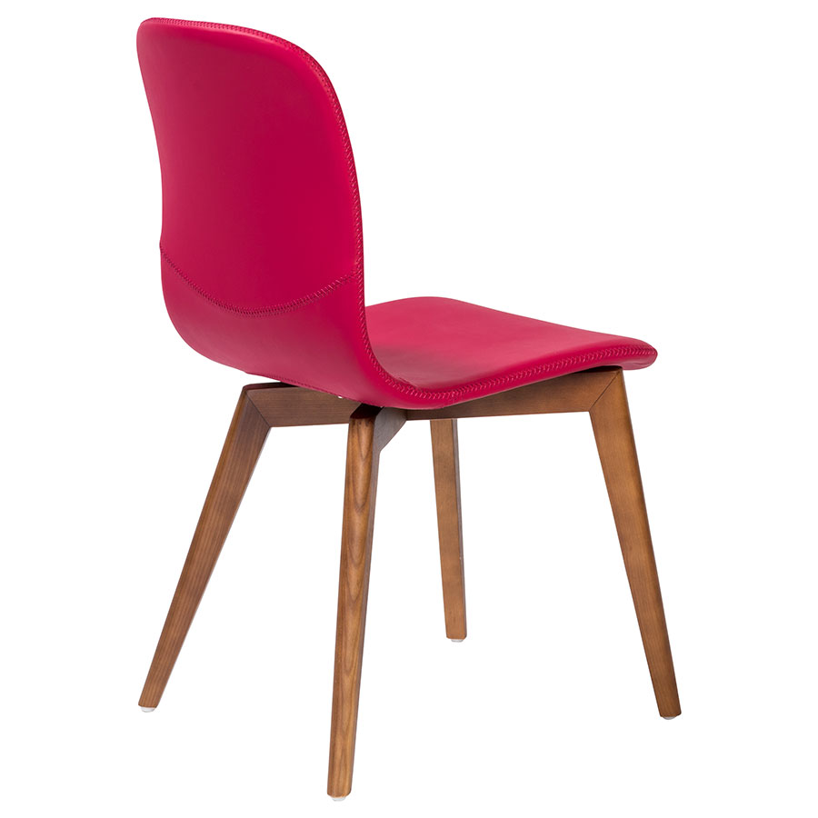 Modern dining chairs morgan red dining chair eurway for Red modern dining chairs