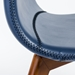 Morgan Modern Blue Side Chair - Seat Detail