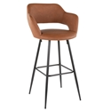 Morris Modern Bar Stool in Brown + Black