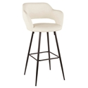 Morris Modern Bar Stool in Cream + Black