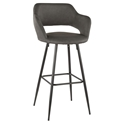 Morris Modern Bar Stool in Gray + Black
