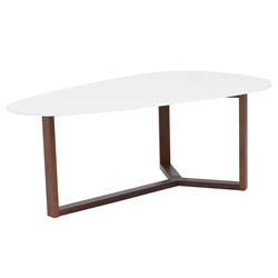 Morty White Modern Cocktail Table