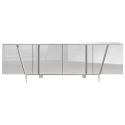 Modloft Mott Modern Sideboard in Glossy White