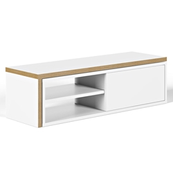 Move White + Ply Modern TV Stand