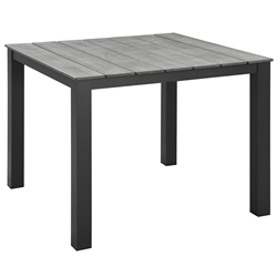 Murano Brown 40 Inch Modern Outdoor Dining Table