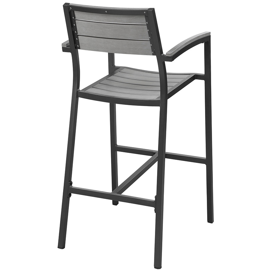 Murano Brown Outdoor Barstool