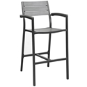 Murano Brown Modern Outdoor Bar Stool