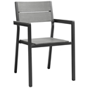 Murano Brown Modern Outdoor Dining Chair
