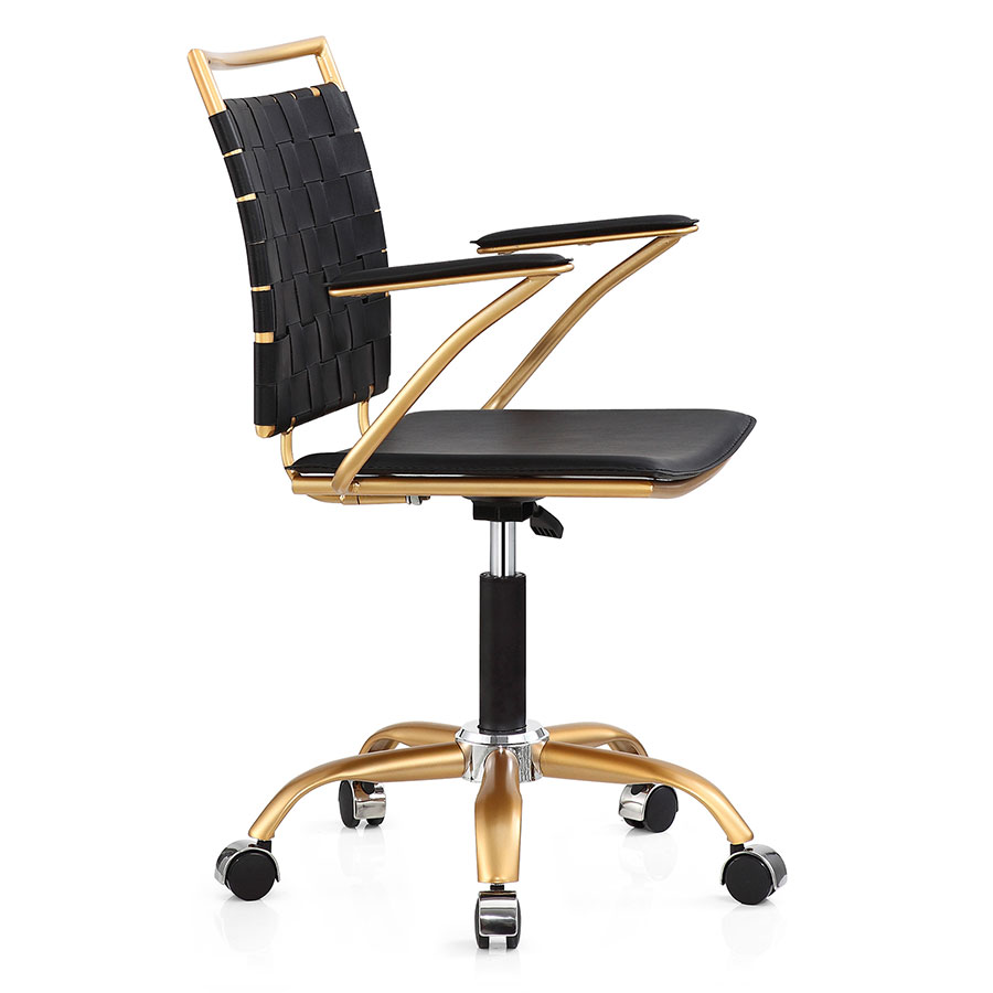 accessories interior unique of office home black set modern desk gold and luxury images trendy piece leather