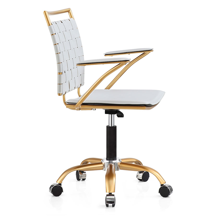 Murdoch White Modern Office Chair | Eurway Furniture