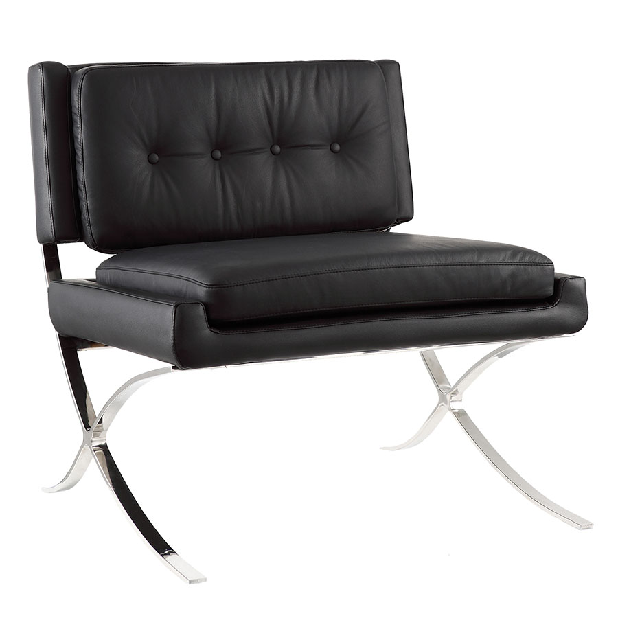 Muriel Black Modern Lounge Chair