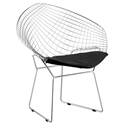 Net Modern Mid Century Modern Chair w/ Black Cushion