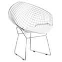 Net Modern Mid Century Modern Chair w/ White Cushion