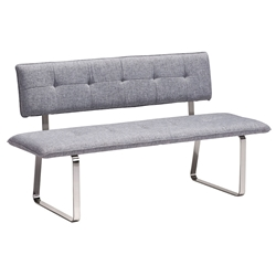 Nadia Gray Modern Dining Bench