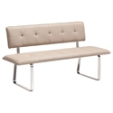 Nadia Taupe Modern Dining Bench