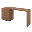 Nancy Walnut Veneer Adjustable Modern Desk