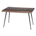 Naples Seared Oak Live Edge With Butterfly Joinery Contemporary Side Table