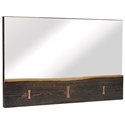 Naples Seared Oak Modern Wall Mirror