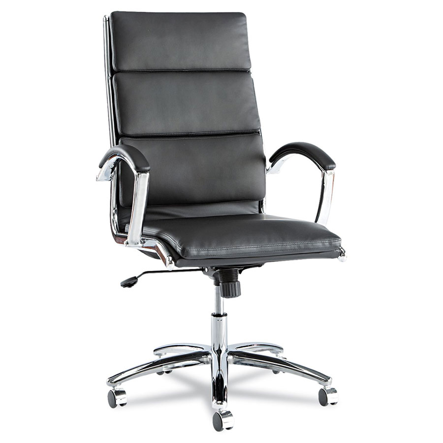 napoli black modern high back office chair | eurway
