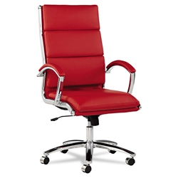 Napoli Modern High Back Red Office Chair