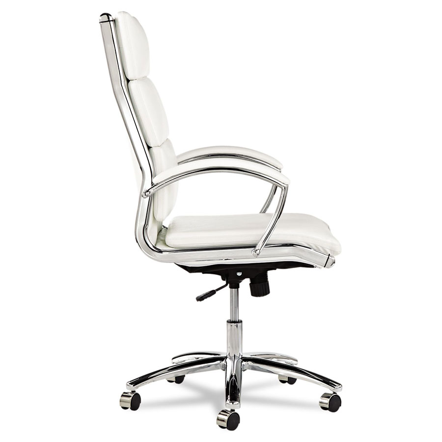 Napoli White Modern High Back Office Chair Eurway