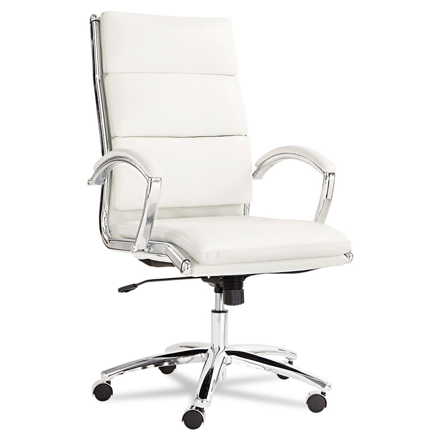 High office chair - Napoli Modern High Back White Office Chair