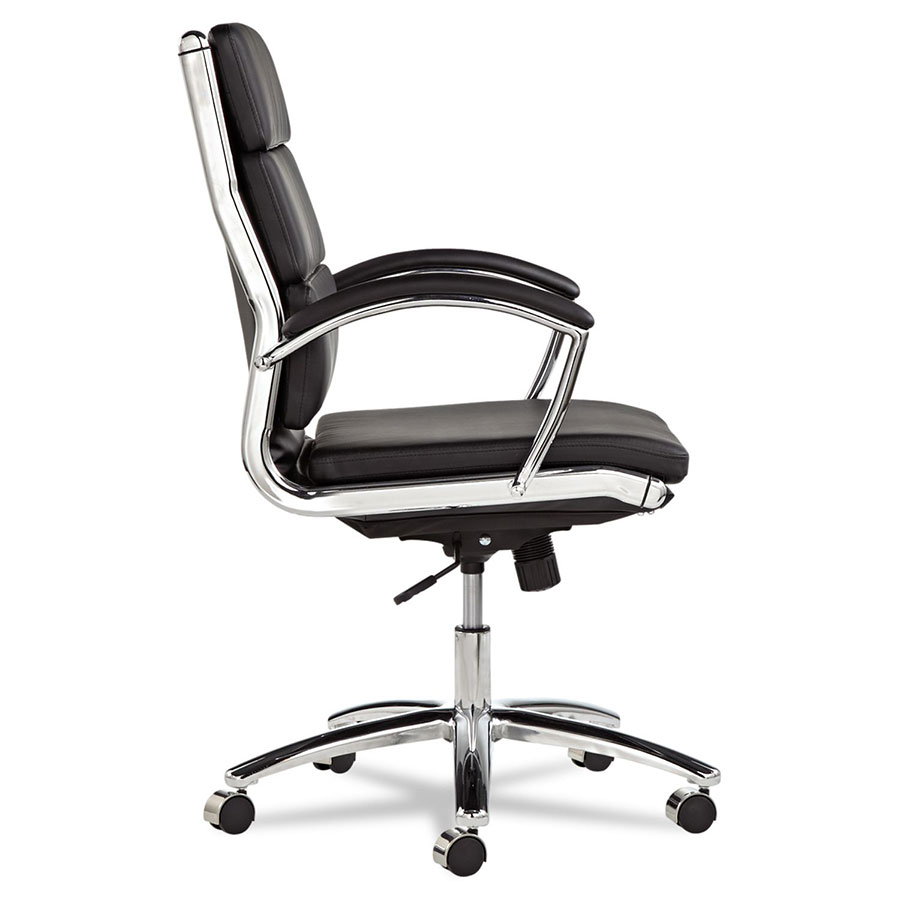napoli black modern mid back office chair | eurway