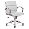 Napoli White Modern Leather Low-Back Office Chair