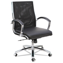 Napoli Black Modern Mesh Mid Back Office Chair