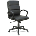 Napoli Black Modern Mid Back Office Chair - Black Frame