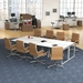 Napoli Modern Mid-Back Camel Office Chairs