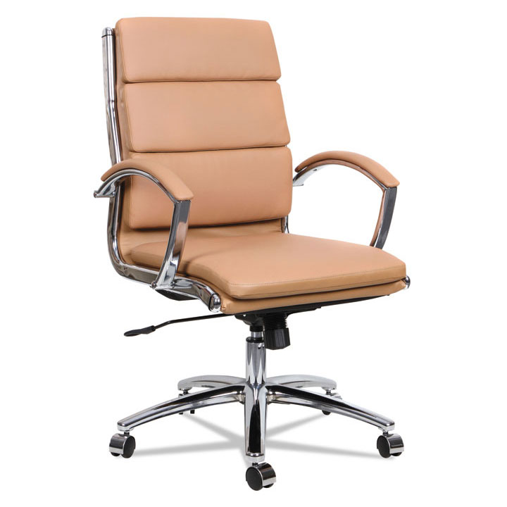 Napoli Camel Modern Mid Back Office Chair